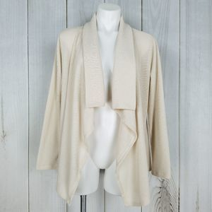 Kim Rogers Ivory White Sweater Open Cardigan